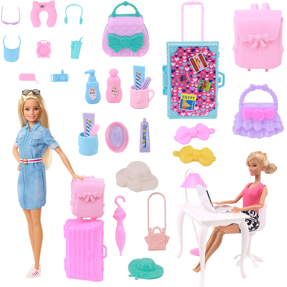 Barbies Accessories Mini Toiletries Swimming Office Appliances Protective Gear For 11 Inch Barbies Doll,Furniture/Piano/Computer