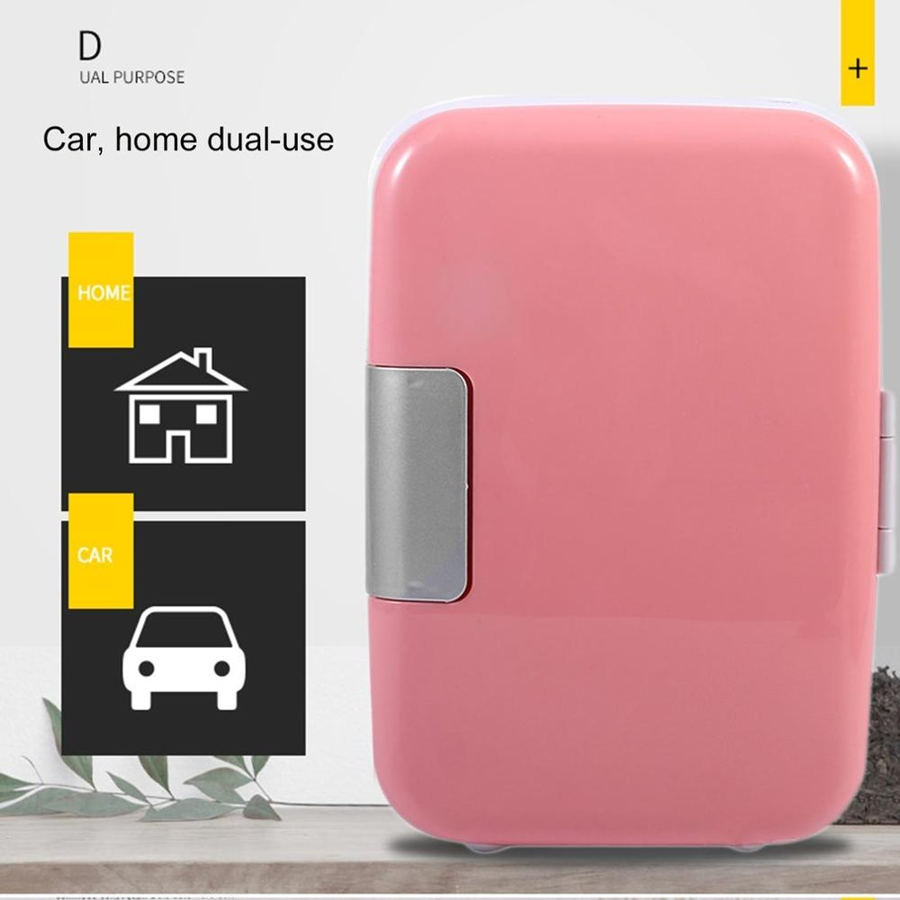 Eletric Home Refrigerator 4L 220V/12V Fridge Home Dual-use Cool Warmer Dormitory Cans Beer Cooler