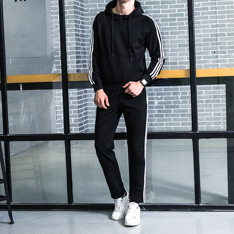 2019 New Style Leisure Suit Men Couples Hooded Pullover Hoody Men'S Wear Korean-style Trend Students Sports Jackets