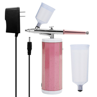 Small Airbrush HY 1903 Spray Pump Pen Set Air Compressor Kit Oxygen Inject Machine Skin Moisturizating Wrinkles Removing Device