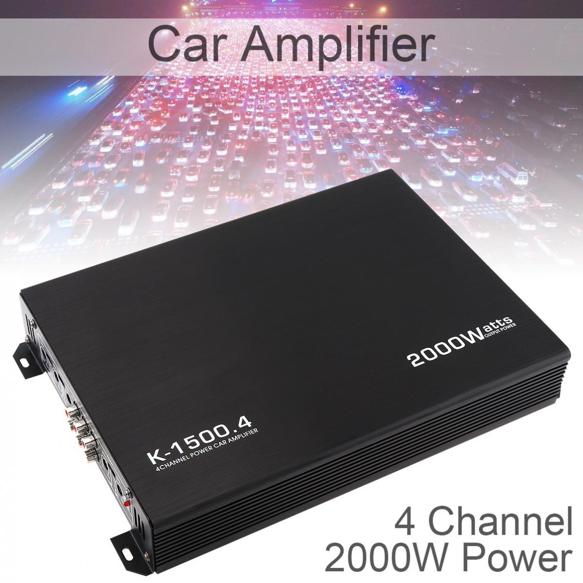 Car Amplifiers 12V 2000W 4-Channel Audio Stereo Bass Speaker Car Audio Amplifiers Subwoofer Car Audio Amplifiers