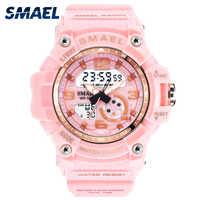 Sport Watch Digital Woman SMAEL Women Clock Bracelet Ladies Military Army LED Watch reloj mujer1808 Women Watches 50M Waterproof