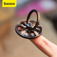 Baseus Gyro Finger Ring Holder Hand Spinner Rotary Rotation Metal Mobile Phone Holder Stand For iPhone Samsung Phone Ring Holder