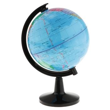 16 Â�ンチメートルヴィンテージグローブ回転スイベル世界地図地球アトラス地理の学生のギフト子供の教育学習グローブ子供のおもちゃ
