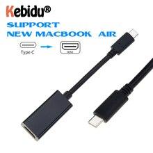 USB C إلى محول HDMI 4K 30Hz نوع C 3.1 ذكر إلى HDMI أنثى مهائي كابلات محول ل S9/8 Plus LG G8 جديد