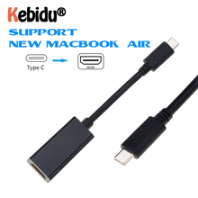 USB C To HDMI Adapter 4K 30Hz Type C 3.1 Male To HDMI Female Cable Adapter Converter For S9/8 Plus LG G8 New