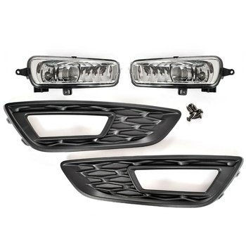 Front Bumper Grille Driving Fog Lights for Ford Focus 2015-2018 DRL Driving Light Frame Decoration
