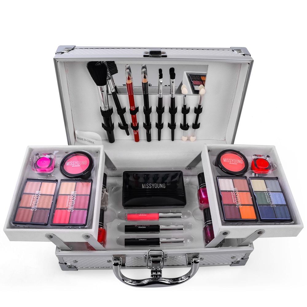 Makeup Set Kit Box Professional Full For Women Lipstick,makeup Brushes Tool