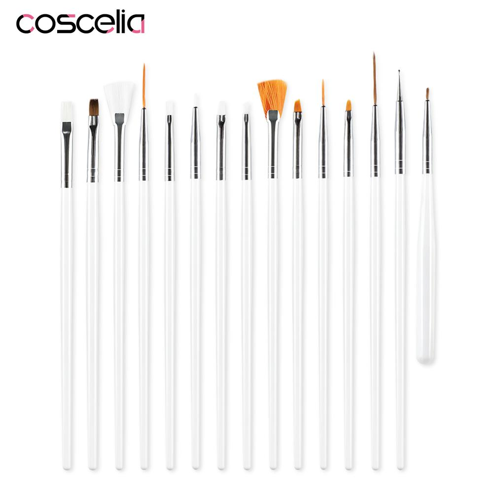 COSCELIA Nail Brush For Manicure Gel Brush For Nail Art Brush For Gradient For Gel Nail Polish Painting Drawing