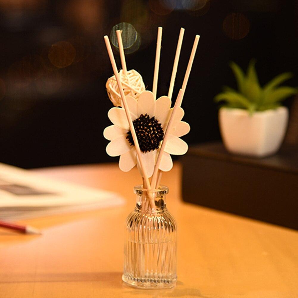 Fragrance Gift Reed Diffuser Set Fresh Air Hotel Spa Rattan Ball Home Aromatherapy Stick Sun Flower Deodorant Office Bathroom