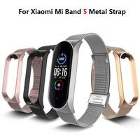 Correa de Metal para Xiaomi Mi banda 5 DE ACERO INOXIDABLE pulsera/Correa inteligente para Mi banda 5 pulsera de reemplazo para Mi banda 5