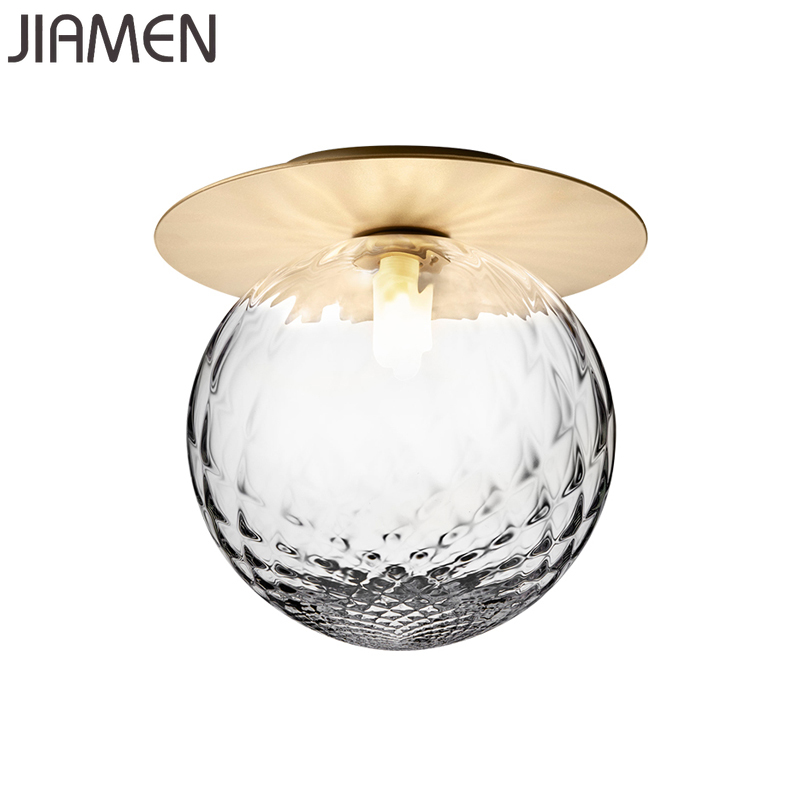 JIAMEN Modern Simple Glass Ceiling Light Fixtures for Home Bedroom Corridor Stairs Aisle Bathroom Loft Decor led Lamp Luminaire