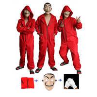 Salvador dali filme a casa de papel la casa de papel cosplay festa halloween máscara dinheiro roubo traje & máscara facial