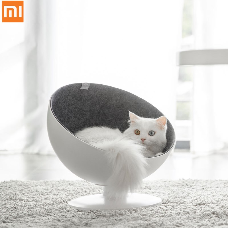 Xiaomi Mijia Cat Boss Cat Nest Rotating Interactive Cat Bed Fiber  Lining Simple And Beautiful Comfortable Nest For Cat Boss
