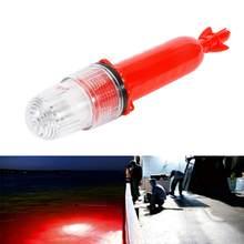 1Pc 27Cm Elektronische Flash Signaal Diep Water Vissen Inktvis Woord Vis Lokken Trekken Licht Lamp Handige Lamp vissen Tool