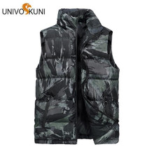 Male Vogue Vest Down Pop Autumn Winter Men Sleeveless Jacket Classic Windbreaker Parka Baggy Hooded Outerwear H614(China)