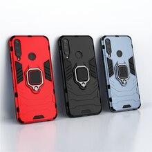 À prova de choque caso armadura huawei y6p MED-LX9N caso anel suporte do telefone suporte capa traseira para huawei y6p MED-LX9N y 6p 2020 6.3
