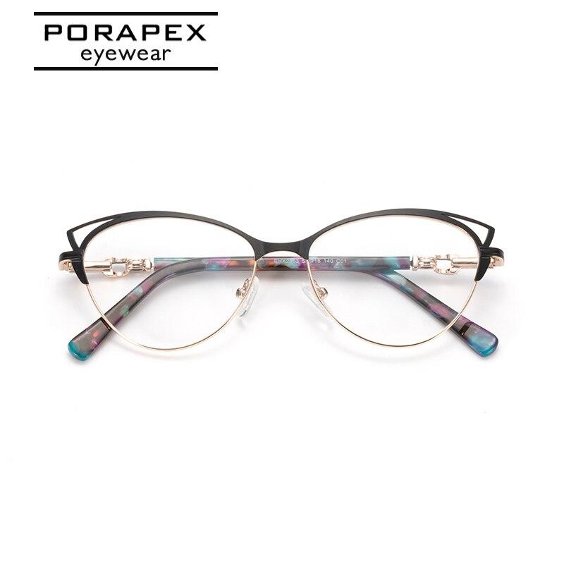 Women Glasses Frame Cat Eye Optical Eyeglasses Myopia Glasses Frames Metal Spring Hinge Spectacles Frame Grade Glasses For Women