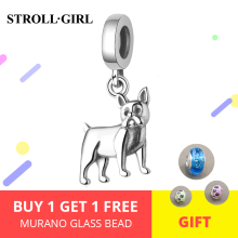 New arrival 925 sterling silver Dog Charms beads fit  bracelets&necklaces DIY fine jewelry making for Women gifts стоимость