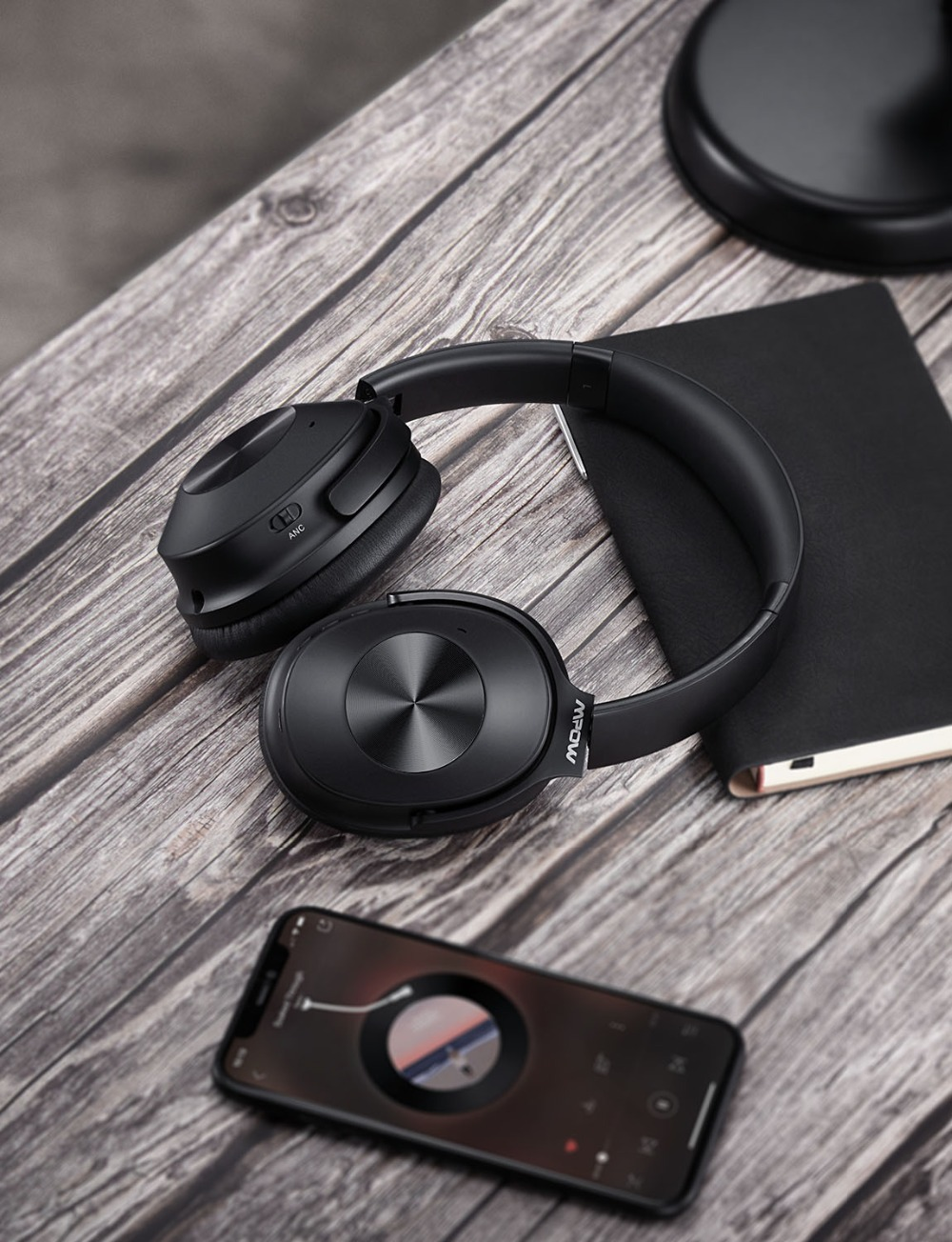 Image 5 - Mpow H12 Updated Hybrid Noise Cancelling Headphone Bluetooth  Headset Hi Fi Sound Deep Bass Headphone with 30 Hours Playing TimePhone  Earphones