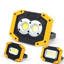 цена на 30W Led Flood Light COB  Outdoor LED Focus Working  USB Rechargeable Spotlight Portable Searchlight Emergency Light Camping Lamp