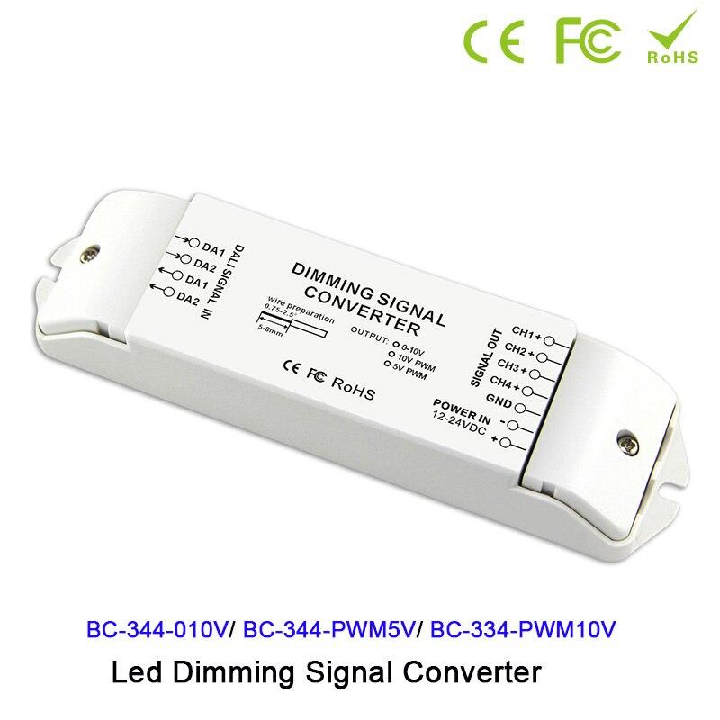 DC12V-24V от DALI до 0-10 В/PWM5V/PWM10V 4 канала преобразователь сигнала DALI светодиодный контроллер драйвера для светодиодной лампы