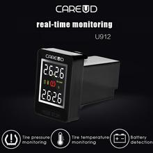 Car Wireless TPMS Tire Pressure Monitoring System Real-time Built-in Sensor LCD Display Embedded Monitor For Honda CAREUD U912 for nissan careud u912 car wireless tpms tire pressure monitoring system with 4 external sensors lcd display embedded monitor