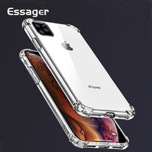 Essager Tahan Guncangan Ponsel Case untuk iPhone 11 Pro 11Pro X Max XR 8 7 6 6S PLUS 5 5S SE 8 PLUS 7 Plus Luxury Silikon Cover Coque(China)