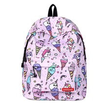 все цены на Cute Unicorn School Backpack Bags for Girls Printing Backpack Teenage Shoulder Bags Cartoon Bookbags Boys Travel Rucksack онлайн