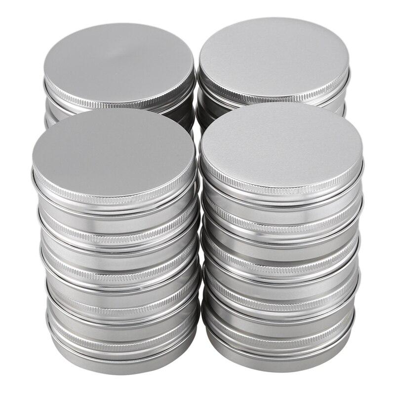 20 x Vacuum cosmetic container Container Jar of aluminum lip cream 100 ml screw cap