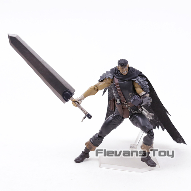 Berserk Figma 359 Guts Black Swordsman Ver Repoint Edition  PVC Action Figure Collectible Model Toy 4
