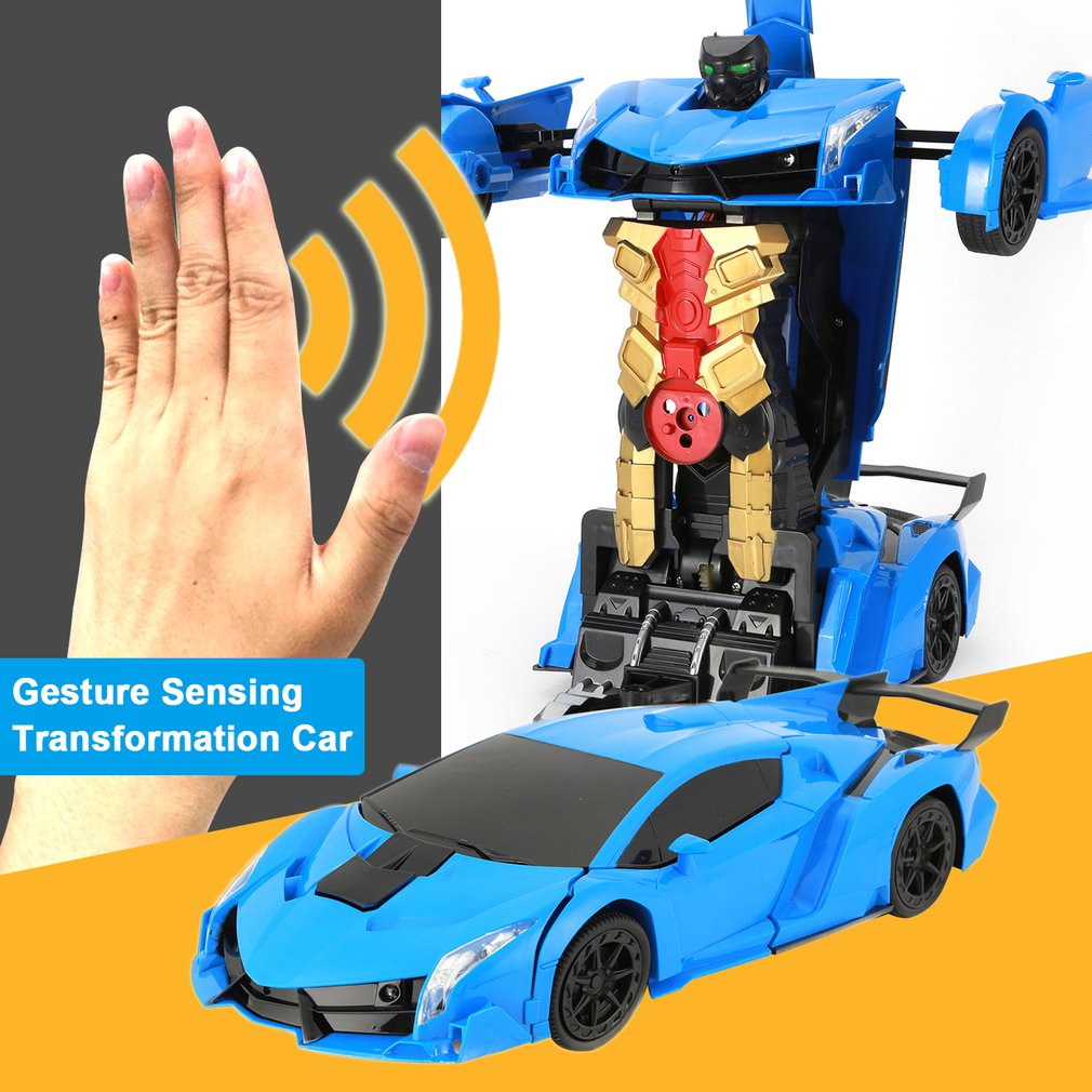 RC Transformer 2 in 1 RC Car Driving Sports Drive Transformation Robots Model Gesture Sensing Remote Control Car Fighting Toy in RC Cars from Toys Hobbies