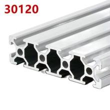 1pcs/lot 30120 Aluminum Profile Extrusion 100mm-500mm Length Linear Rail 200mm 400mm 500mm for DIY 3D Printer Workbench CNC