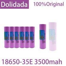 100% Original Fordolidada18650 3500mAh descarga 20A INR18650 35E 18650 bateria Li-ion 3.7v Bateria recarregável