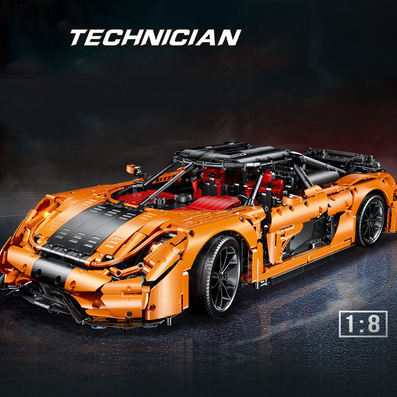 MOC-30506 technic super racing car original koenigseggs model building blocks DIY speed sport car toys for friend kids gifts image