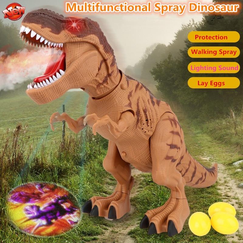 andando brinquedo robo dinossauro eletrico 47 cm spray de agua profection caminhada leigos ovo fazer efeito