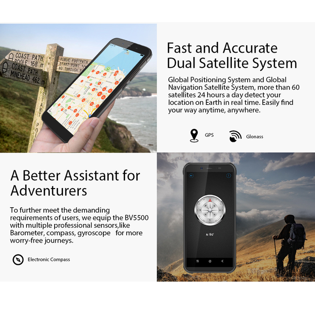 Blackview 2020 New BV5500 Plus Android 10.0 3GB+32GB IP68 Waterproof Rugged Smartphone 5.5'' Full Screen 4400mAh 4G Mobile Phone 6