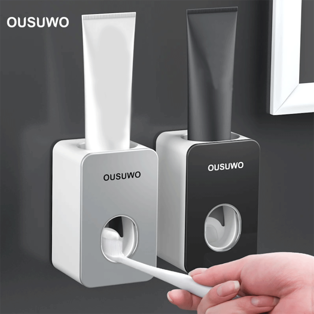 Automatic Toothbrush Holder Home Wall-mounted Plastic Toothpaste Squeezer Banyo Aksesuarlari дозатор для зубной пасты