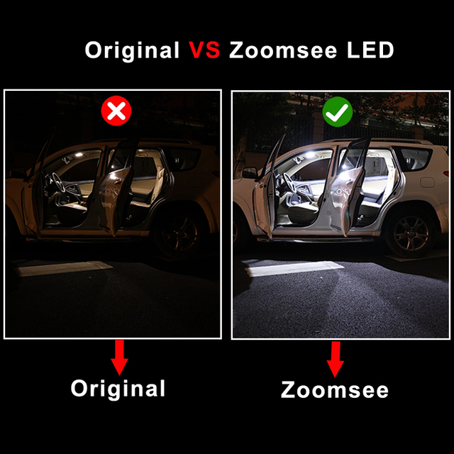 Zoomsee Interior LED For Chrysler 200 2011-2017 Canbus Vehicle Bulb Indoor Dome Map Reading Trunk Light Error Free Auto Lamp Kit 3