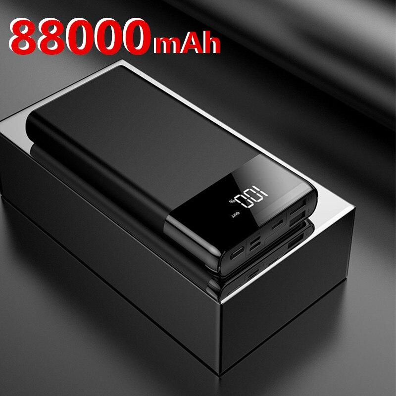Batterie de puissance 88000 mAh haute capacité pour Xiaomi iPhone Samsung Powerbank chargeur Portable