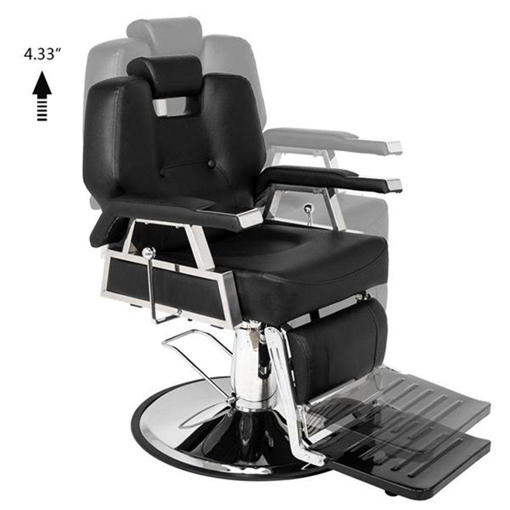 High Quality HZ8706 Professional Portable Hydraulic Lift Man Large Barber Chair Black Professional Barber Chair For Salon