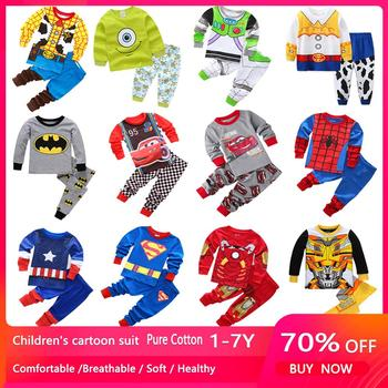 2020 Kids Cotton Pajamas Avenger Alliance Batman Superman Sets Sleepwear Baby Boys Girls Cartoon Toys Pijamas Nightwear Clothes - discount item  66% OFF Children's Clothing