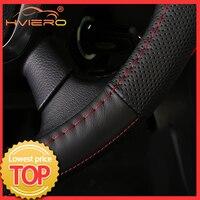 Cubiertas de volante DIY para coche, trenza de cuero extremadamente suave en el volante, accesorio Interior de hilo de 38cm