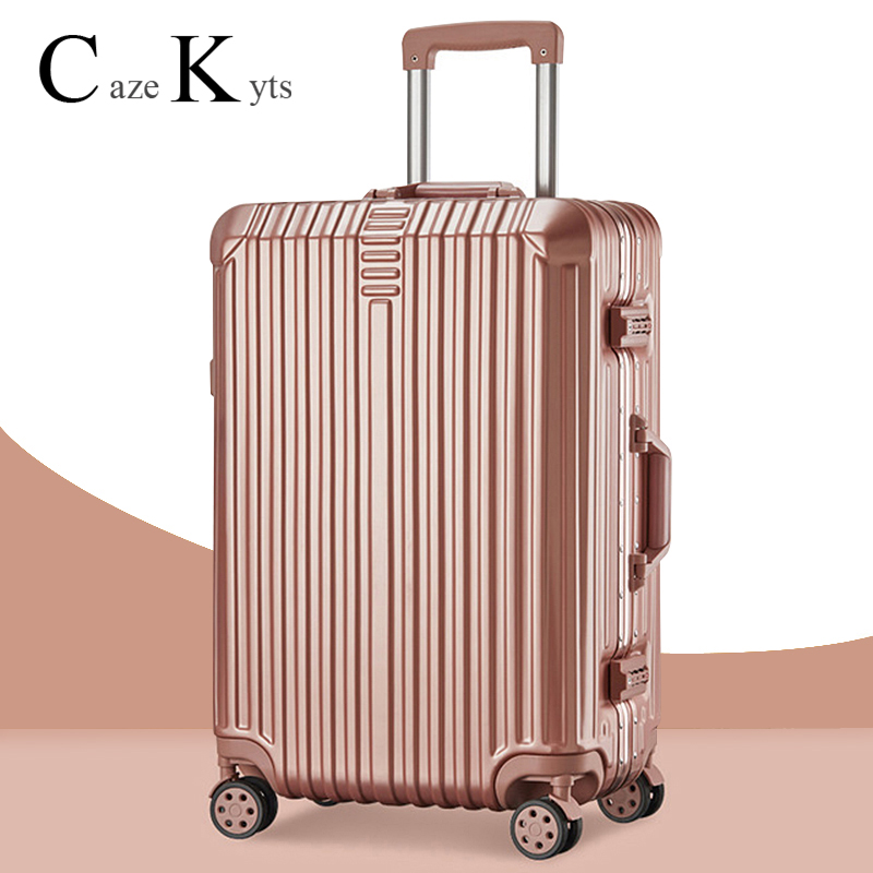 Spinner Luggage Suitcase Trolley Case Travel Bag Luggage Trip Journey Rolling Wheel Carry-On Boarding Suitcase password box