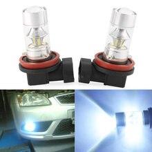 H8 H11 6000K 60W High Power LED Foglamp mgła jazdy żarówka Samsung 2323 projektor uniwersalne oświetlenie wymiana żarówki