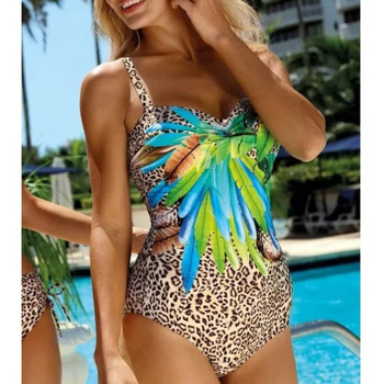 Sexy One-piece Large Size Swimwear With Push Up Women Plus Size Swimsuit Closed Body Female Bathing Suit For Pool Beach Wear 12