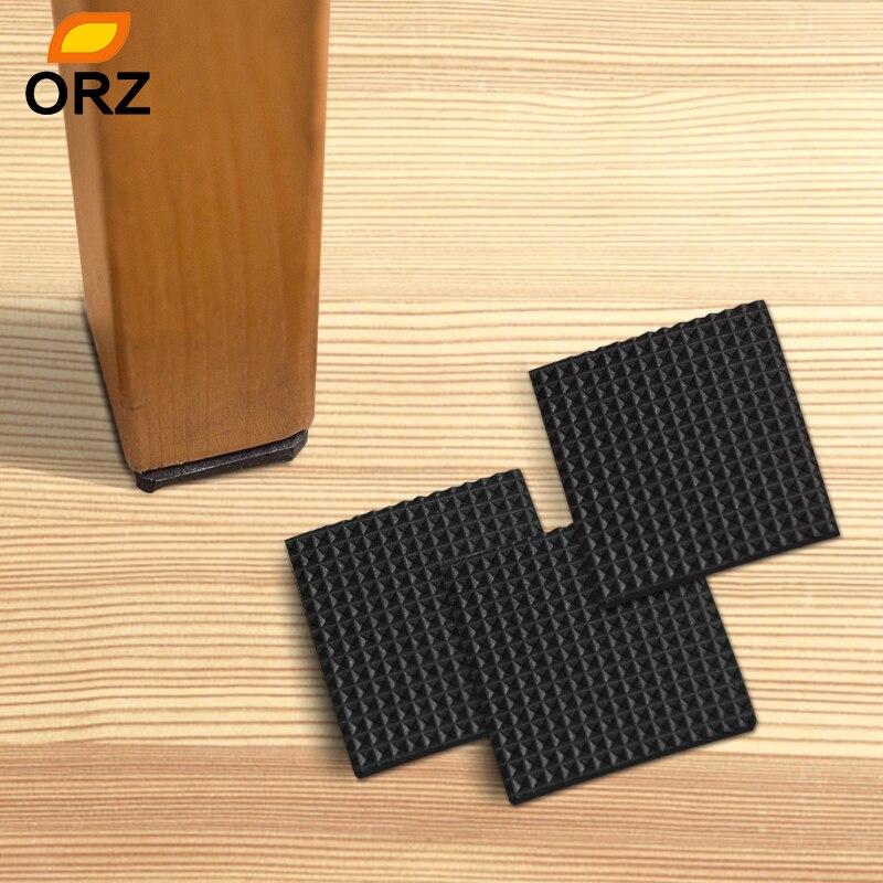 40pcs/lot Chair Leg Pads Soft Thickening Bumper Chair Fittings Self-adhesive Floor Protector Anti-slip Mat Anti Rub Furniture