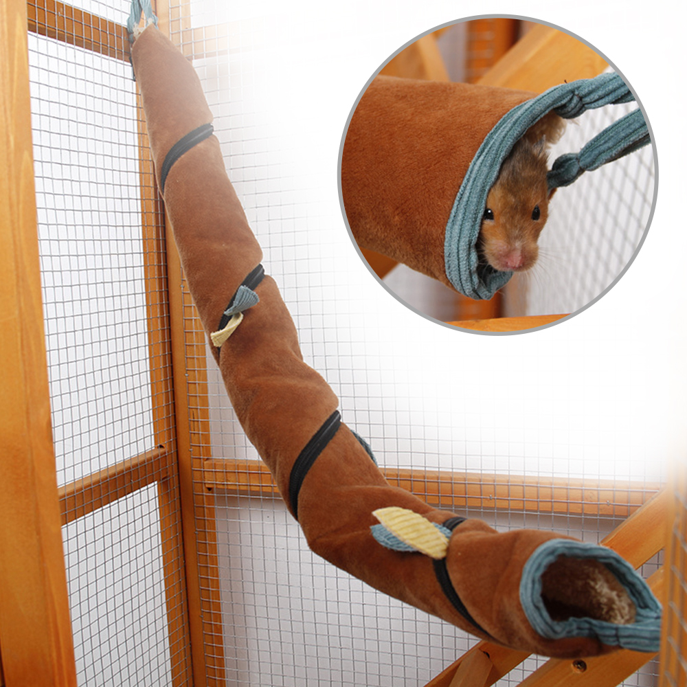 Маленький хомяк длинный туннель для домашних животных Гамак гнездо кровать-тоннель для маленьких животных трубка крыса хорек игрушка Теплый Гамак