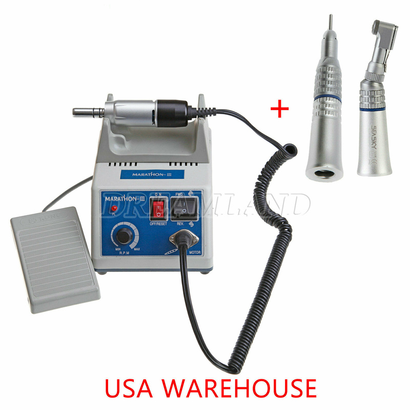 Dental Lab E-TYPE micromotor polish hand piece with contra angle & straight handpiece SEAYANG MARATH