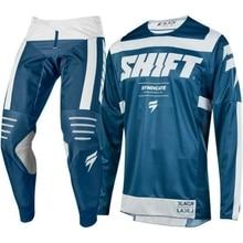 wholesale NEW MX 2019 3LACK Label Strike Blue Black Jersey Pants Adult Motocross Gear Set Jersey + Pants Racing Gear Combination цена